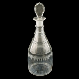 Regency Triple Ring Neck Decanter