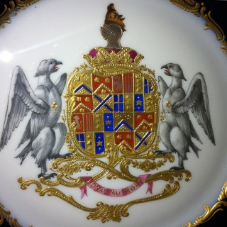 A Fine Set of Eleven Sèvres-Style Armorial Cabinet Plates