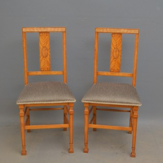 Pair of Shapland & Petter Satinwood Chairs