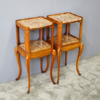 Pair of Marble Top Bedsides by Morison and Co of Edinburgh