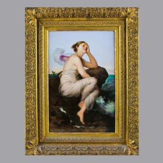 'Psyche' - A Very Fine German Porcelain Plaque