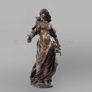 'Le Message des Oiseaux' - A Multipatinated Bronze Figure