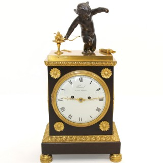 Regency Gilt and Bronze Fusee Mantel Clock