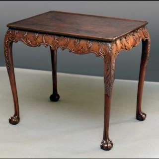 Irish Georgian silver table
