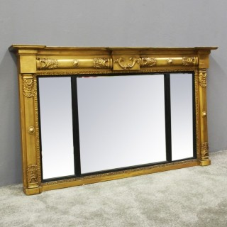 William IV Gilt Triptych Overmantel Mirror