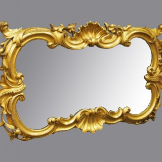 Rococo Style Gilt Mirror by Ciceri and Co, Edinburgh