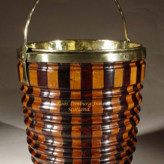Dutch Coopered Peat Tea Bucket Jardiniere Tea stove (theestoof)