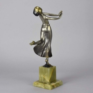 Cold Painted Art Deco Bronze Figure entitled 'Joy' by Josef Lorenzl