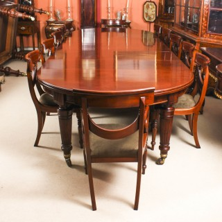 Antique Victorian Extending Dining Table C1870 & 12 Bespoke Swag Back Chairs
