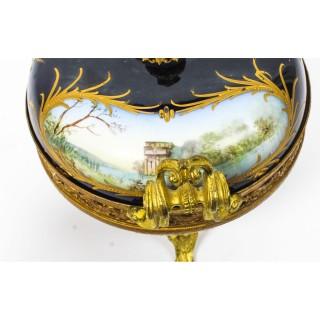 Antique Sevres Royal Bleu Porcelain Pot-Pourri Urn Stamped 1846 19th C