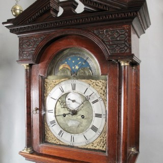 A George 3 (1738-1820)  Very Decorative and Original Scottish Oak Longcase Clock.