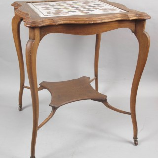 An original Kashmir (India) inlaid marble chess table.