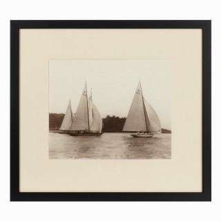 Early silver gelatin photographic print of Unity and Cutty