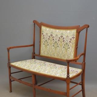 Stylish Art Nouveau Mahogany Settee – Sofa