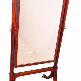 Antique Georgian Mahogany Cheval Dressing Mirror