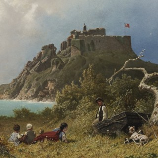 A View over the Bristol Channel Oil Painting By Eugen Krüger