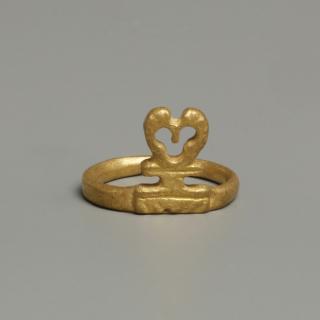 Golden Roman Key Ring