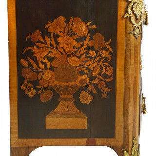 Early 19th Century Continental Marquetry commode.