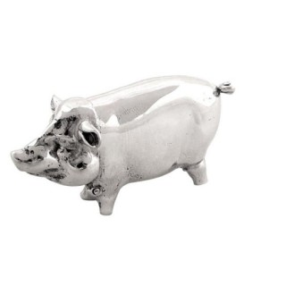 Antique Sterling Silver Pig Match Strike / Vesta 1930