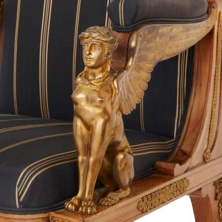 French Empire style three-piece salon suite