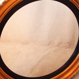 Antique Mid 19th Century Circular Gilt Mirror
