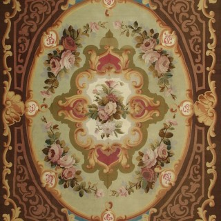 Antique Aubusson rug, Louis Phillippe period