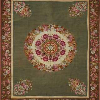 Antique French Aubusson rug, c.1820