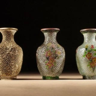 A  Rare Chinese Demonstration Set How to Make Plique-a-Jour Vases circa 1920-1940