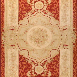 Antique Aubusson silk rug,
