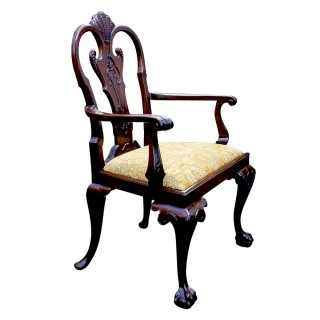 Antique Carved Large Mahogany Armchair or Desk Chair