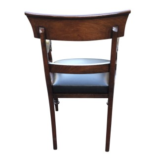 Antique Mahogany William 1V Desk Chair or Open Armchair