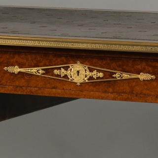 An Empire Style Gilt-Bronze Mounted Bureau Plat