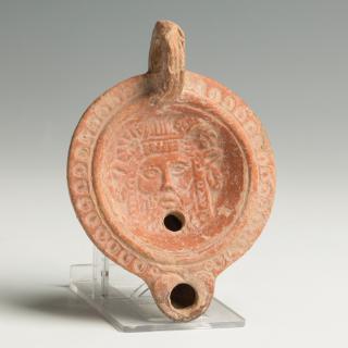 Roman Lamp with Silenus