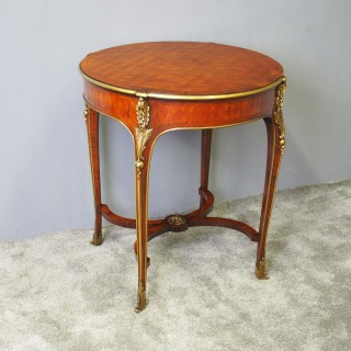 French Walnut and Kingwood Shaped Occasional Table