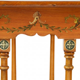 Nest of three Sheraton revival Satinwood tables.