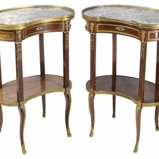 A pair of late 19th Century  side tables