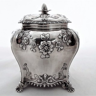 George III silver tea caddy London 1766 Thomas Bumfriss & Orlando Jackson