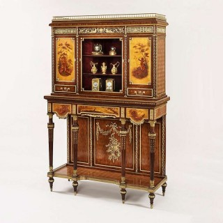 A Fine Cabinet of the Napoleon III Period Almost Certainly by François Linke