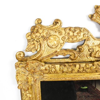 Antique French Louis Revival Giltwood Overmantel Mirror 19th C 156 x 98 cm