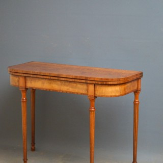 George III Sycamore Card Table