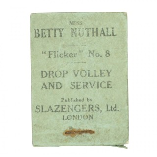 Tennis Flicker Book, Betty Nuthall