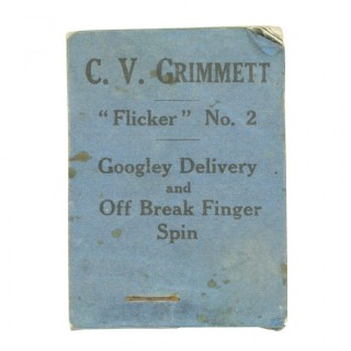 Cricket Flicker Book, C.V. Grimmet