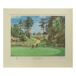 Play On The 6th Green, The Masters 1968, By Arthur Weaver