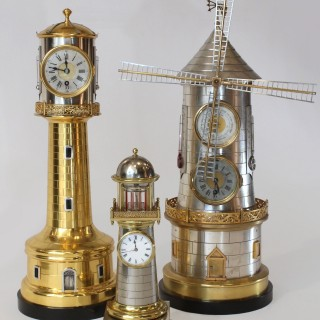 Guilmet Lighthouse Clock with automaton