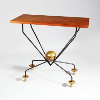 A mid century console or centre table