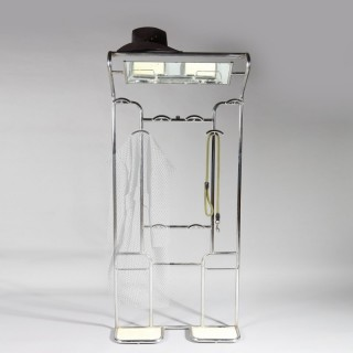 A Bauhaus chrome hall stand