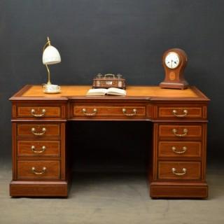 Late Victorian Maple & Co Mahogany Desk