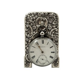 Antique Victorian Sterling Silver Pocket Watch Stand 1898