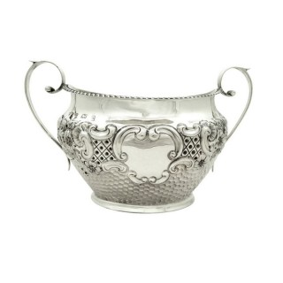 Antique Edwardian Sterling Silver Bowl 1901