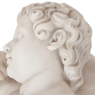 Renaissance style marble figure of sleeping child